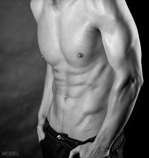 Male Model Chest Six Pack